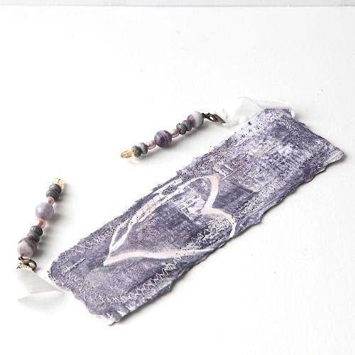 handpainted gemstone bookmark
