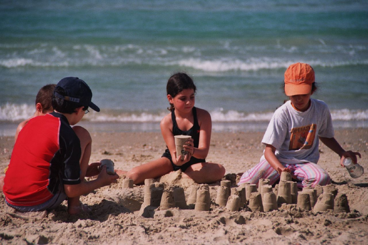 church building sandcastles together