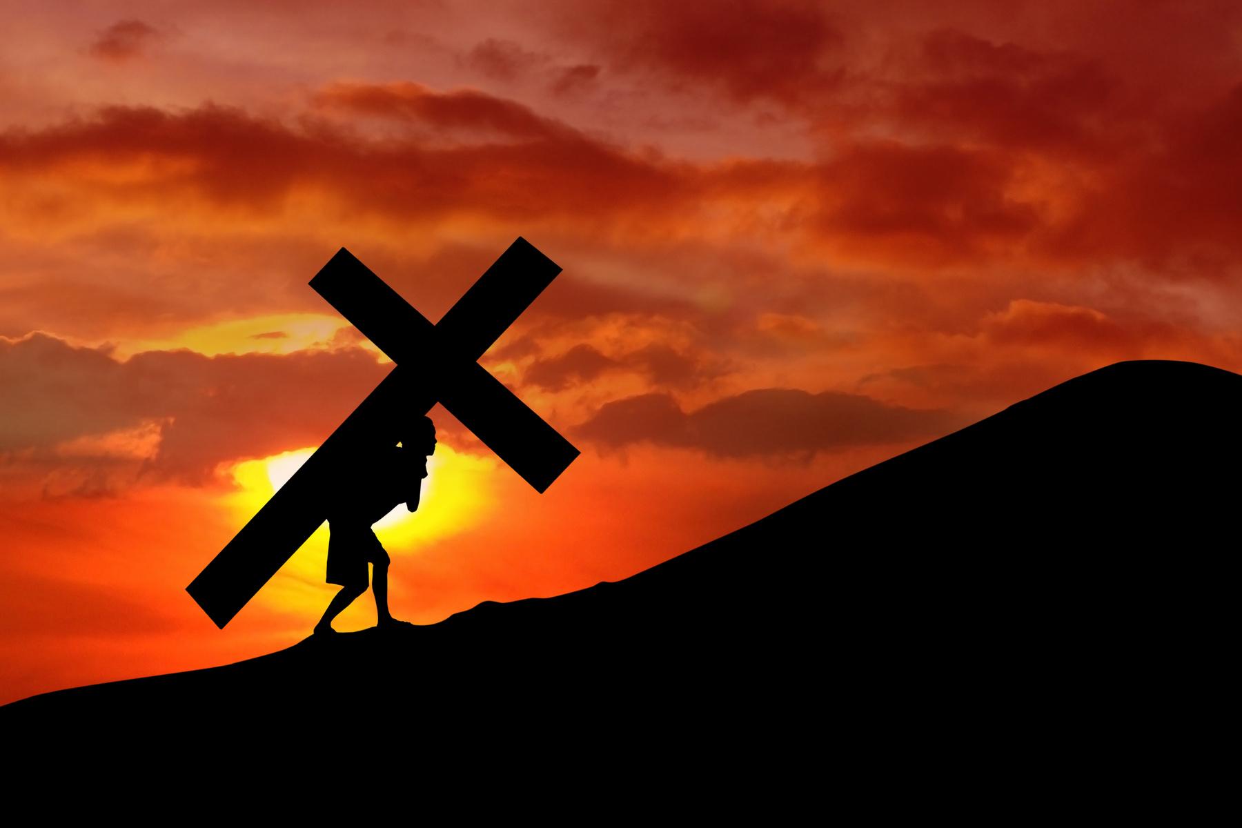 Jesus carrying cross