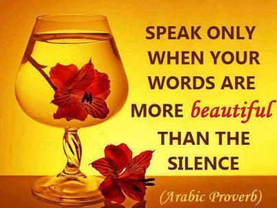 silencearabicproverb