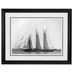 Black and white photograph of classic sailing yacht Chazalie taken in 1883 by Marine photographer Alfred John West. Available to buy from Brett Gallery. Beken of Cowes Framed Prints, Beken of Cowes archives, Beken of Cowes Prints, Beken Archive, Cowes Week old Photographs, Beken Prints, Frank beken of Cowes.