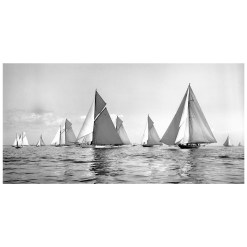 Stunning, Black and White, Silver Gelatin, Limited Edition Photograph of sailing yachts Lulworth and Norda taken by Frank Beken in 1927. This photograph was take by a great marine photographer Frank Beken in 1927. This photograph was scanned for original glass plate negative and printed by Brett Gallery in darkroom. Available to buy in different sizes. Beken of Cowes Framed Prints, Beken of Cowes archives, Beken of Cowes Prints, Beken Archive, Cowes Week old Photographs, Beken Prints, Frank beken of Cowes.