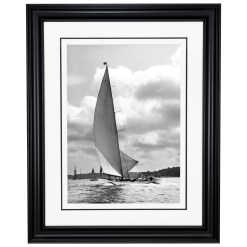 Framed Limited edition, Silver Gelatin, Black and White Photograph of sailing boat Nyria. Taken by a famous marine photographer Frank Beken in 1923. Available to purchase in various sizes from the Brett Gallery. This picture was developed in the darkroom and scanned from original glass plat negative from period. Beken of Cowes Framed Prints, Beken of Cowes archives, Beken of Cowes Prints, Beken Archive, Cowes Week old Photographs, Beken Prints, Frank beken of Cowes.