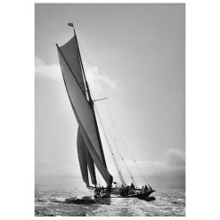 Unframed Black and White, Silver Gelatin, Limited edition Photograph of sailing yacht Prince of Wales Yacht Britannia. Taken by a talented marine photographer Alfred John West in 1894. Available to purchase in various sizes from the Brett Gallery. This picture was developed in the darkroom and scanned from original glass plat negative from period. Beken of Cowes Framed Prints, Beken of Cowes archives, Beken of Cowes Prints, Beken Archive, Cowes Week old Photographs, Beken Prints, Frank beken of Cowes.