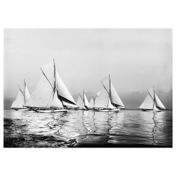 Unframed Black and White, Silver Gelatin, Limited edition Photograph of sailing yachts at Start Ryde Town Cup. Taken by a famous marine photographer Frank Beken in 1903. Available to purchase in various sizes from the Brett Gallery. This picture was developed in the darkroom and scanned from original glass plat negative from period. Beken of Cowes Framed Prints, Beken of Cowes archives, Beken of Cowes Prints, Beken Archive, Cowes Week old Photographs, Beken Prints, Frank beken of Cowes.