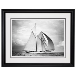 Framed Limited edition, Silver Gelatin, Black and White Photograph of sailing boat Westward sailing at sea with full sails of air. Taken by a famous marine photographer Frank Beken in 1932. Available to purchase in various sizes from the Brett Gallery. This picture was developed in the darkroom and scanned from original glass plat negative from period. Beken of Cowes Framed Prints, Beken of Cowes archives, Beken of Cowes Prints, Beken Archive, Cowes Week old Photographs, Beken Prints, Frank beken of Cowes.