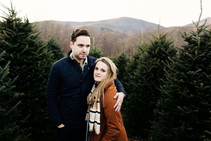boone christmas tree lifestyle shoot