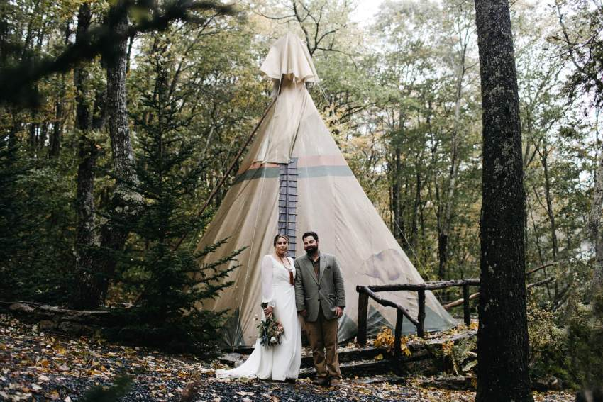 teepee wedding nc