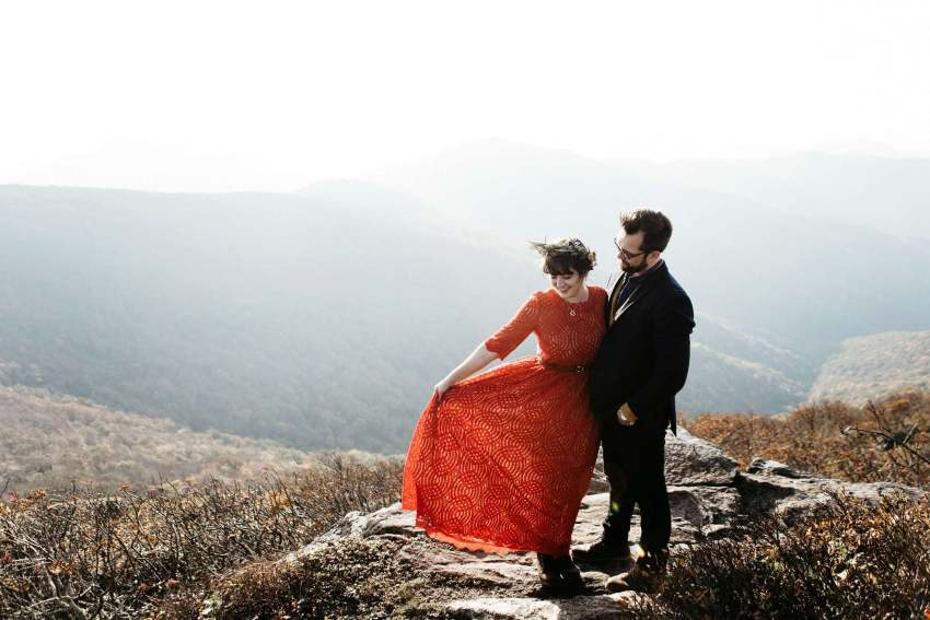 craggy gardens elopement photos
