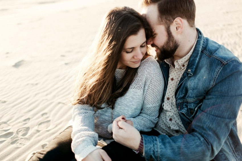 hipster beach engagement north carolina