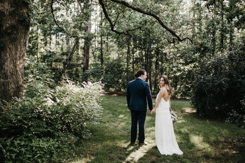 rock quarry farm wedding photos