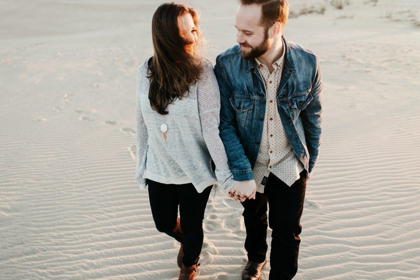 sand dune engagement shoot