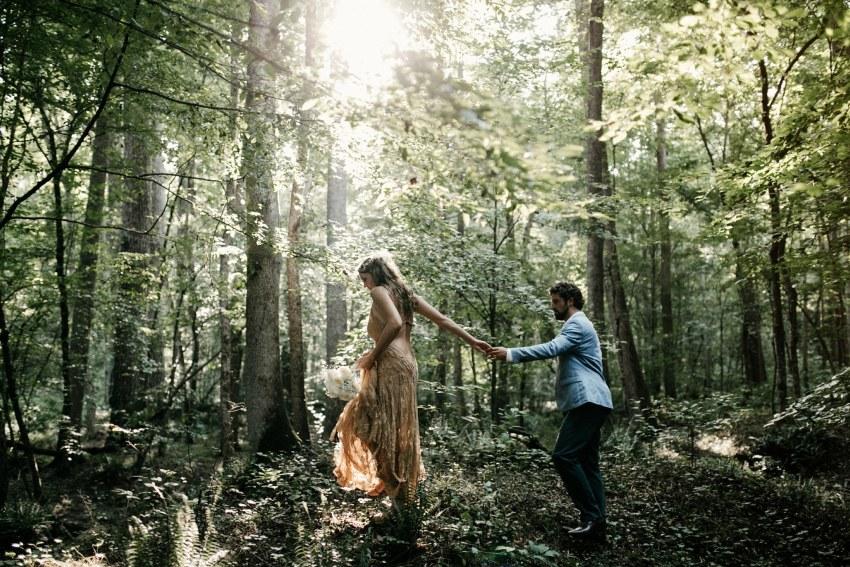asheville mountain backyard wedding