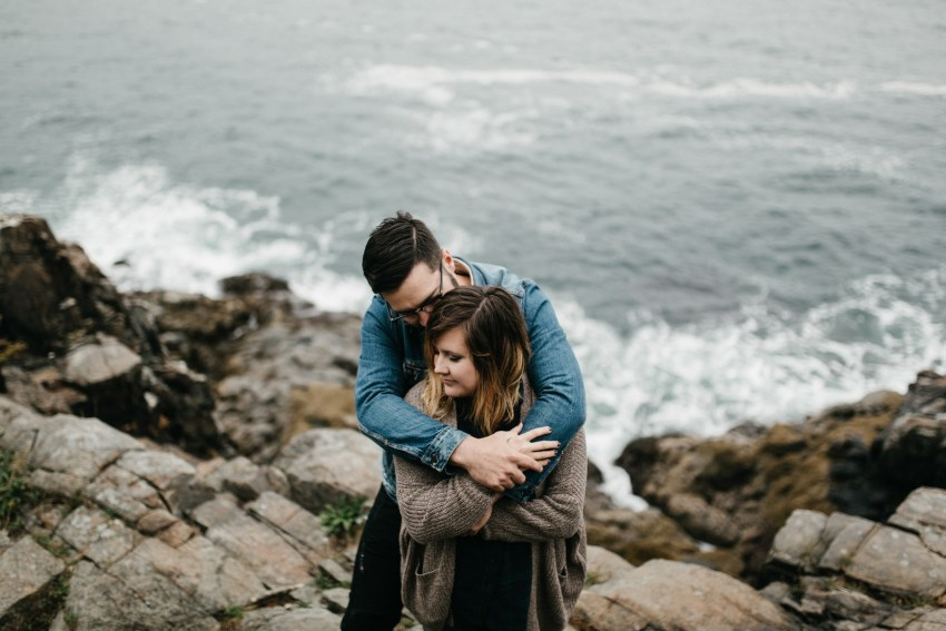 acadia maine engagement photos