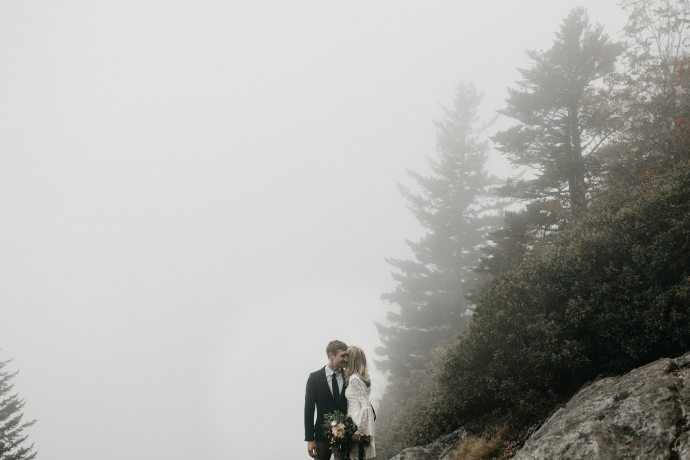 foggy asheville mountain elopement