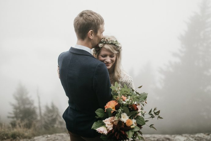romantic asheville mountain elopement