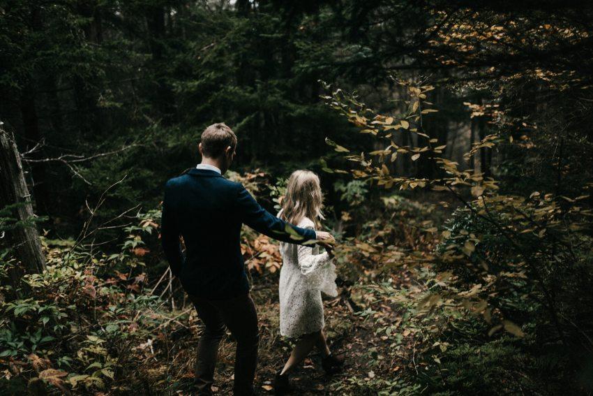 hiking asheville mountain elopement