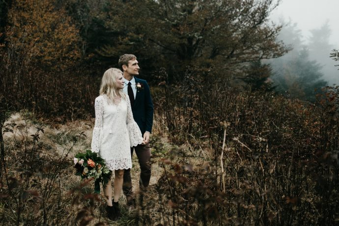 sam knob asheville mountain elopement