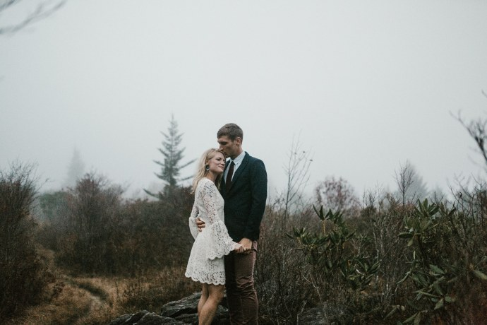 blue ridge parkway asheville elopement