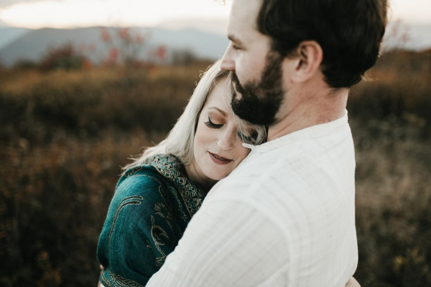 romantic asheville engagement
