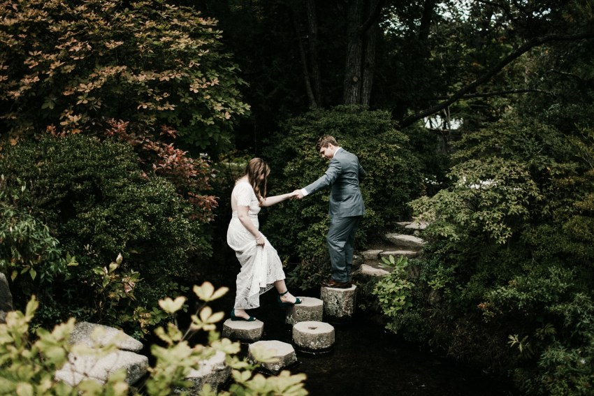 asticou azalea gardens wedding