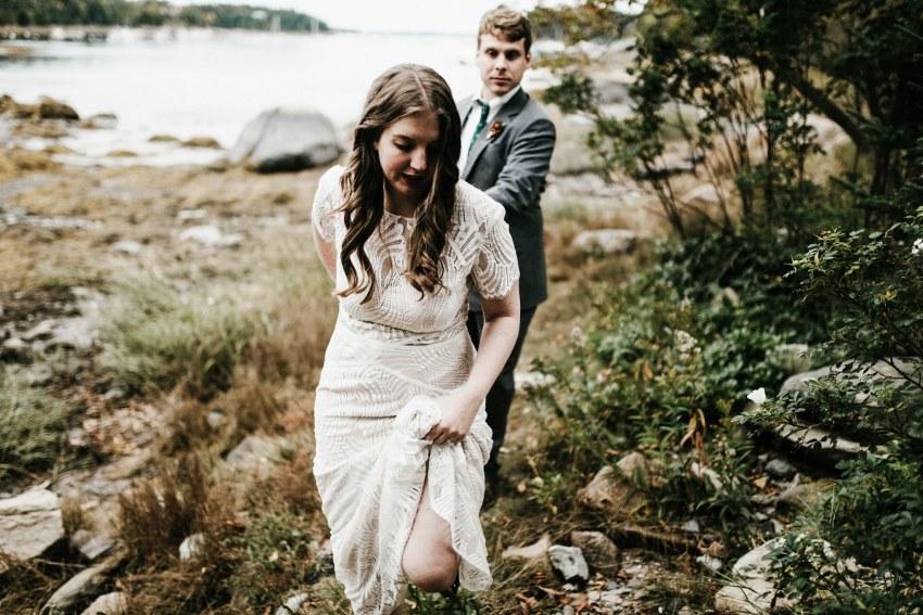 intimate Acadia national park wedding