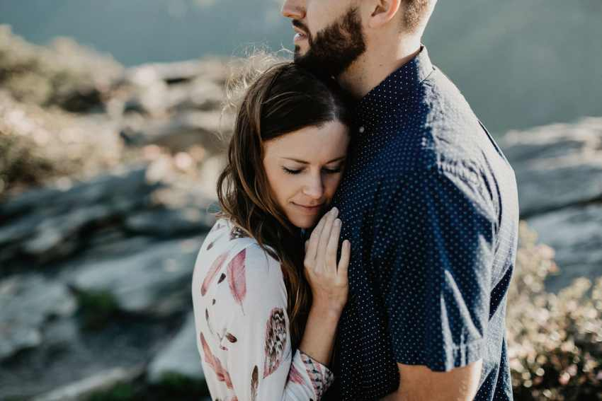 linville gorge wedding photos