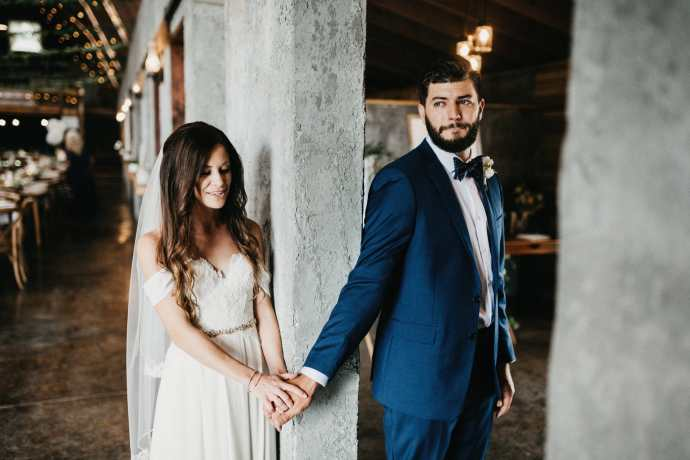 emotional first touch wedding