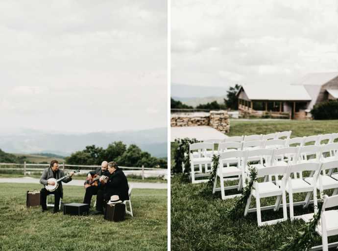 overlook barn wedding ceremony