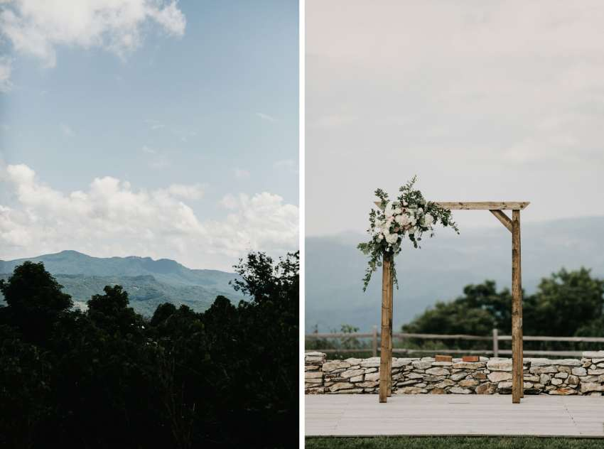 overlook barn wedding ceremony