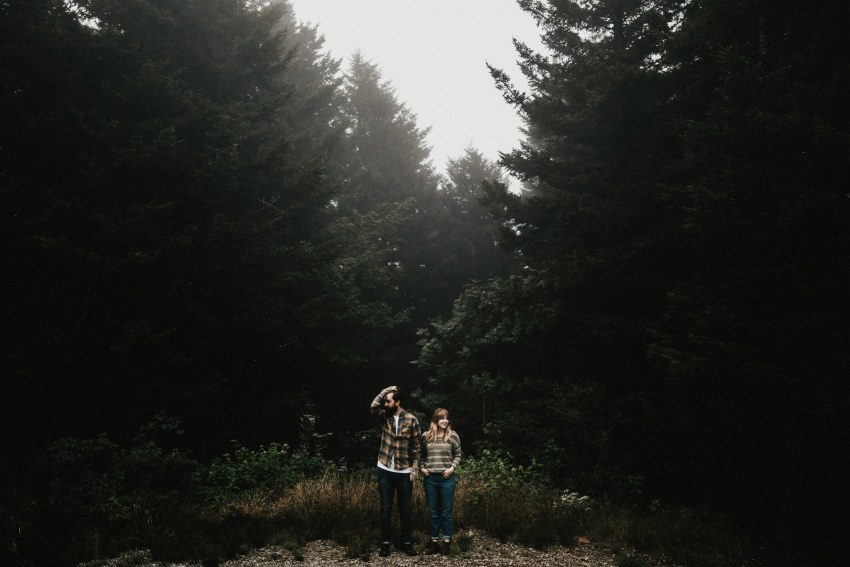 Brett & Jessica Photography | black balsam knob engagement photos