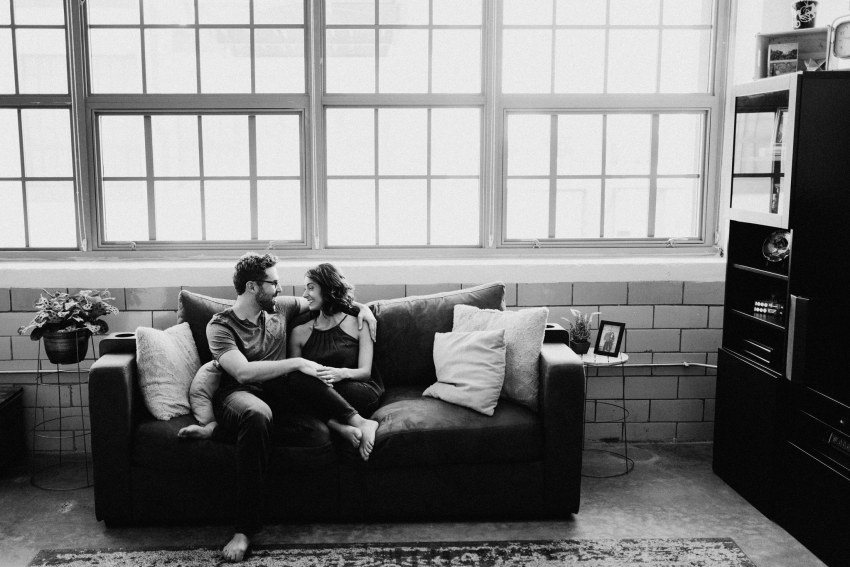 2017-raleigh-Brett & Jessica Photography | in-home engagement shoot