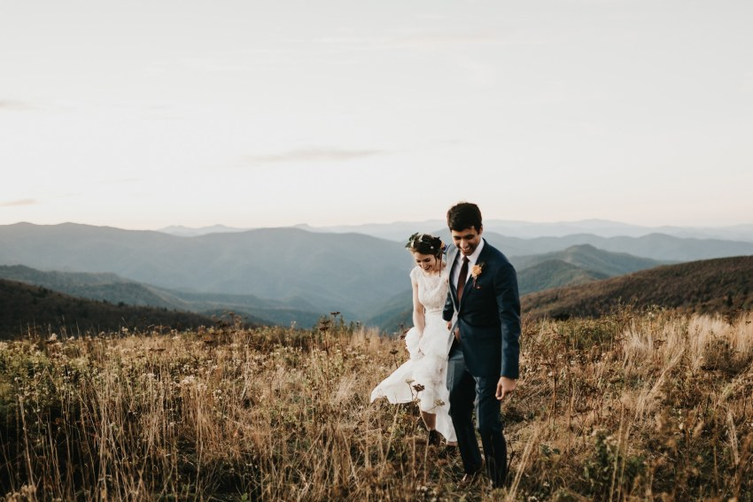 Brett & Jessica Photography | adventure elopement Asheville nc