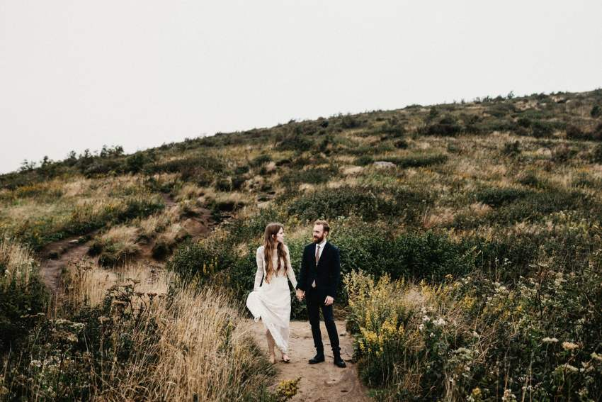 Adventure wedding photos