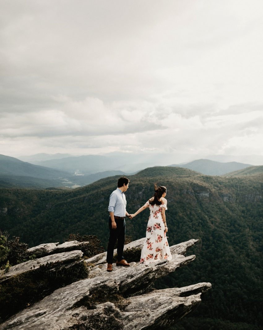 linville gorge engagement session