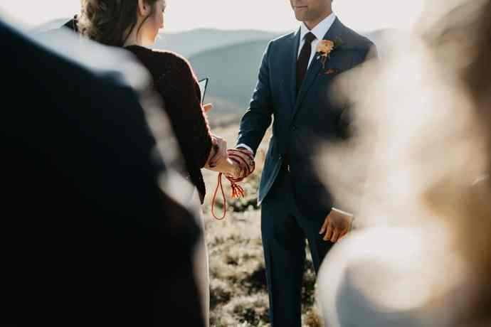black balsam knob elopement ceremony