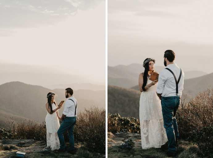 blue ridge parkway elopement photos