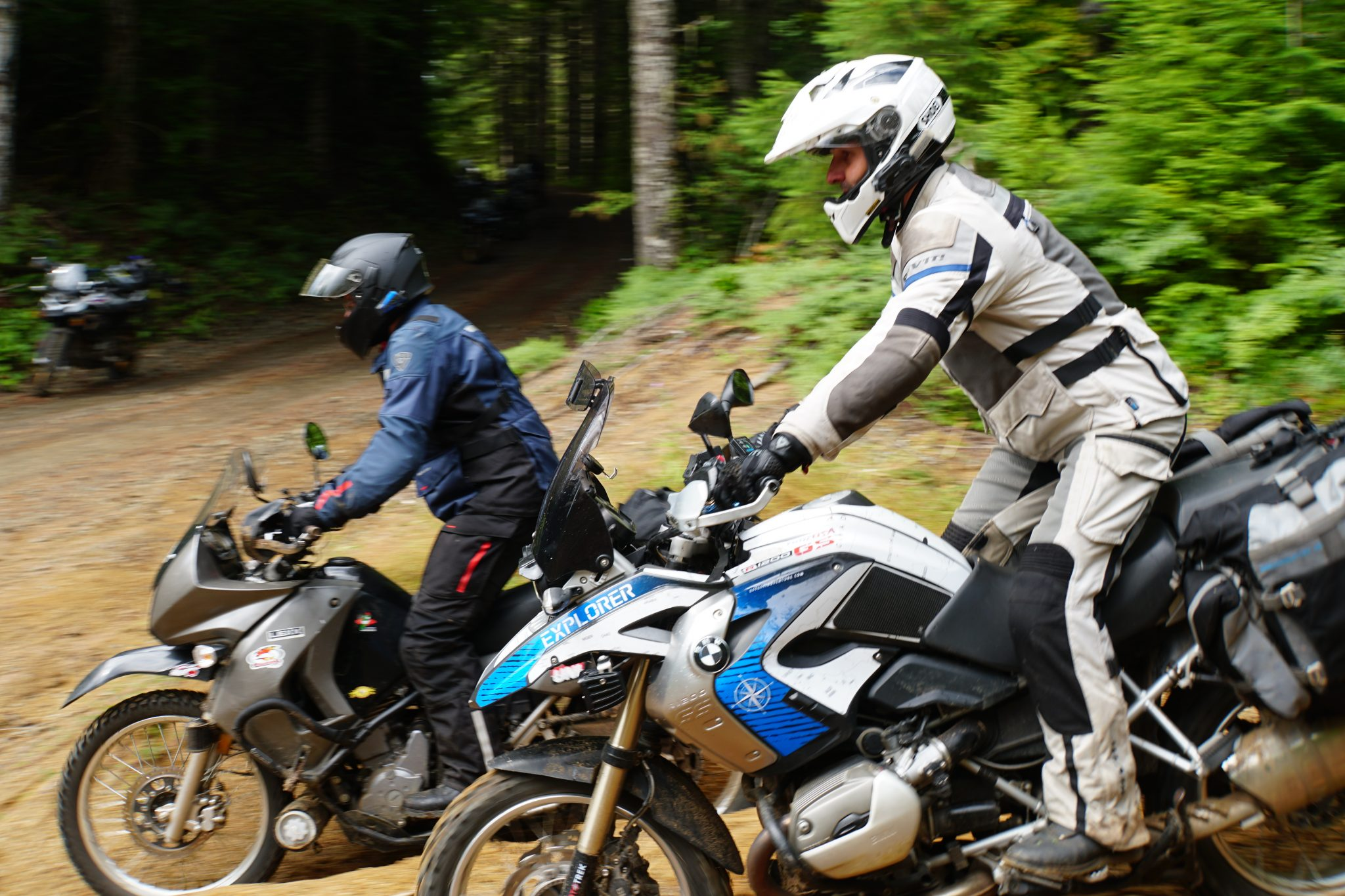 BMW R1200 GS oilhead and KLR 650 at Adventure Training Camp