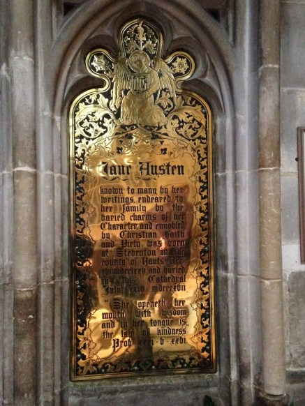 Memorial to Jane Austen, Winchester Cathedral