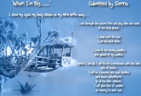 Sienna's Dream - 'When I'm Big'