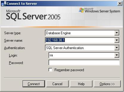SQL Management Studio Login