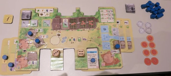 La Granja Spieltableau - Prototyp