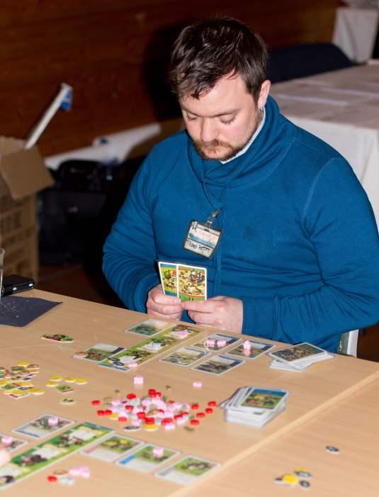 Trond Petter prøvde seg på Imperial Settlers-turneringen og hadde øvd litt på forhånd.
