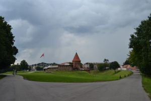 The castle and the park of Kaunas