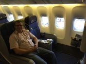 Our two seats on the flight to Singapore