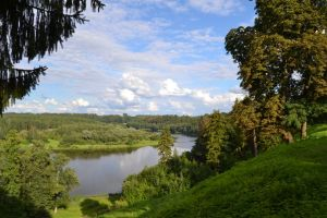 View on the river Memel from the hill