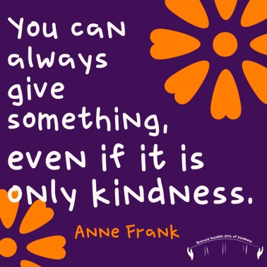 anne frank kindness quote
