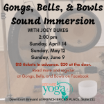 Sound Immersion Sundays, September 15 and October 13