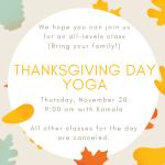 Thanksgiving Day Yoga!