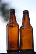 Sierra Nevada and New Castle Werewolf bottles, side-by-side.